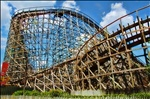 Large Wooden Roller coaster