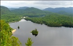 a view in Mont-Tremblant park