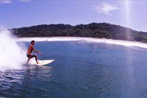 surfing at Mal Pais
