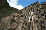White woman - high moon - Inka terraces - Choquequirao - Peru