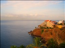 Our view from our balcony below into the palms and gardens of the Reid's Palace Hotel and towards the Cliff Bay Hotel in Funchal, Madeira, Portugal in September 2009! Enjoy!