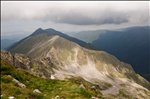 Fagaras Mountains and Transylvania from Negoiu Peak