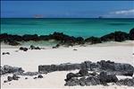 View at Bachas Beach, Santa Cruz Island