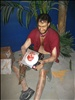 Cast Away - Tom Hanks - Wax Scultpure @ Hollywood Wax Museum