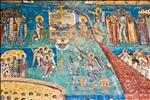 Last judgment paint in Voronet monastery
