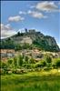 Sisteron, le plan d'eau, la citadelle