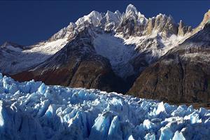 glacier at lake grey