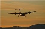 Dash-7 Landing at Nuuk Airport at sunset