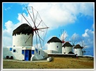 The iconic Windmills in Mykonos Town - Chora - ( October 2009 ). Impressions of Greece, from us to you! Enjoy!:)
